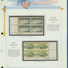 1970 USA MNH Sc# 1408 – 9 Blks of 4 Stamps mounted on a WA Page – Plt #'d Bks of 4 – E2703