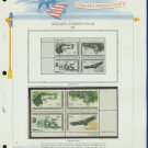 1971 USA MNH Sc# 1427 – 30 Wildlife Conservation Stamps on WA Pgs –Plt #'d Blks of 4– E2703