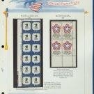 1971 USA MNH Scott# 1396, 1432 - Plate #'d Blocks of Stamps mounted on a WA Page – E2703