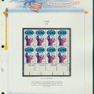 1971 USA MNH Sc# 1439 Plate #'d Block of 8 Stamps mounted on a White Ace Page – CARE – E2703