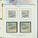 1972 USA MNH Sc# 1448 - 51 – Plate #'d Blocks of 4 Stamps mounted on a White Ace Page – E2703