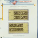 1972 USA MNH Sc# 1456 - 59 – Plate #'d Blocks of 4 Stamps mounted on a White Ace Page – E2703