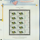 1972 USA MNH Sc# C85 Plate #'d Block of 10 Stamps mounted on a WA Pg – Olympics – E2703