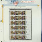 1972 USA MNH Sc# 1468 Plate #'d Block of 12 Stamps mounted on a WA Pg – Post Office – E2703