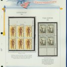 1972 USA MNH Sc# 1469, 70 – Plate #'d Blocks of 6 & 4 Stamps mounted on a WA Page – E2703