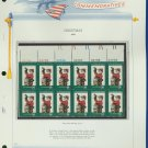 1972 USA MNH Sc# 1472 Plate #'d Block of 12 Stamps mounted on a WA Pg – Christmas – E2703