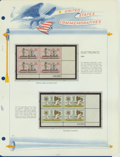 1973 USA MNH Sc# 1502, C86 � Plate #�d Blocks of 4 Stamps mounted on a White Ace Page � E2703