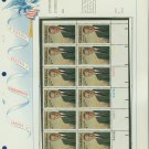 1973 USA MNH Sc# 1503 Plt #'d Blk of 12 Stamps mounted on a WA Pg – L B Johnson – E2703