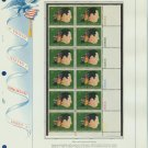 1973 USA MNH Sc# 1484 Plt #'d Blk of 12 Stamps mounted on a WA Pg – G Gershwin – E2703