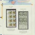 1973 USA MNH Sc# 1511, 1526 –Plt #'d Blks of 8 & 4 Stamps mounted on a WA Page – E2703