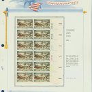 1974 USA MH Sc# 1551 Plate #'d Block of 12 Stamps mounted on a WA Pg – Christmas – E2703