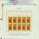 1974 USA MH Sc# 1550 Plate #'d Block of 10 Stamps mounted on a WA Pg – Christmas – E2703