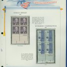 1961 USA MNH Scott# 1177, 86 Plate #'d Blocks of 4 Stamps mounted on a White Ace Page – E2703