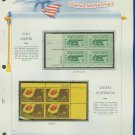 1961 USA MNH Scott# 1178, 83 Plate #'d Blocks of 4 Stamps mounted on a White Ace Page – E2703