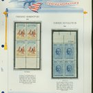 1961 USA MNH Scott# 1187, 8 Plate #'d Blocks of 4 Stamps mounted on a White Ace Page – E2703