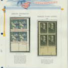 1962 USA MNH Scott# 1192, 5 Plate #'d Blocks of 4 Stamps mounted on a White Ace Page – E2703