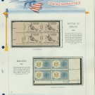 1962 USA MNH Scott# 1179, 94 Plate #'d Blocks of 4 Stamps mounted on a White Ace Page – E2703