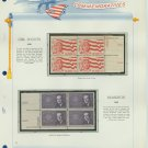 1962 USA MNH Scott# 1199, 1200 Plate #'d Blocks of 4 Stamps mounted on a White Ace Page – E2703