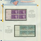 1963 USA MNH Scott# 1236, 1237 Plate #'d Blocks of 4 Stamps mounted on a White Ace Page – E2703