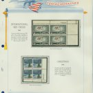 1963 USA MNH Scott# 1239, 1240 Plate #'d Blocks of 4 Stamps mounted on a White Ace Page – E2703