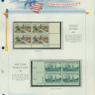 1964 USA MNH Scott# 1243, 1244 Plate #'d Blocks of 4 Stamps mounted on a White Ace Page – E2703