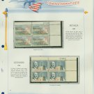 1964 USA MNH Scott# 1248, C69 Plate #'d Blocks of 4 Stamps mounted on a White Ace Page – E2703