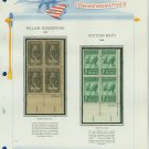 1964 USA MNH Scott# 1250, 1251 Plate #'d Blocks of 4 Stamps mounted on a White Ace Page – E2703