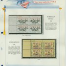 1964 USA MNH Scott# 1252, 1253 Plate #'d Blocks of 4 Stamps mounted on a White Ace Page – E2703