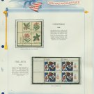 1964 USA MNH Scott# 1254 - 59 Plate #'d Blocks of 4 Stamps mounted on a White Ace Page – E2703