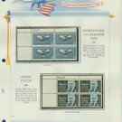 1965 USA MNH Scott# 1266, 1270 Plate #'d Blocks of 4 Stamps mounted on a White Ace Page – E2703