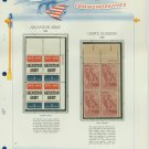 1965 USA MNH Scott# 1267, 1268 Plate #'d Blocks of 4 Stamps mounted on a White Ace Page – E2703