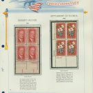 1965 USA MNH Scott# 1269, 1270 Plate #'d Blocks of 4 Stamps mounted on a White Ace Page – E2703