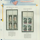 1965 USA MNH Scott# 1273, 1275 Plate #'d Blocks of 4 Stamps mounted on a White Ace Page – E2703