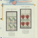 1966 USA MNH Scott# 1315, 1317 Plate #'d Blocks of 4 Stamps mounted on a White Ace Page – E2703
