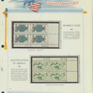 1966 USA MNH Scott# 1316, 1318 Plate #'d Blocks of 4 Stamps mounted on a White Ace Page – E2703