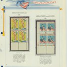 1966 USA MNH Scott# 1319, 1320 Plate #'d Blocks of 4 Stamps mounted on a White Ace Page – E2703