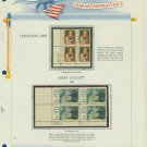 1966 USA MNH Scott# 1321, 1322 Plate #'d Blocks of 4 Stamps mounted on a White Ace Page – E2703