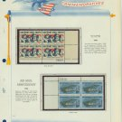 1968 USA MNH Scott# 1342, C74 Plate #'d Blocks of 4 Stamps mounted on a White Ace Page – E2703