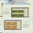 1968 USA MNH Scott# 1356, 1357 Plate #'d Blocks of 4 Stamps mounted on a White Ace Page – E2703