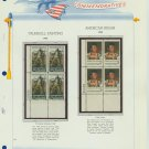 1968 USA MNH Scott# 1361, 1364 Plate #'d Blocks of 4 Stamps mounted on a White Ace Page – E2703