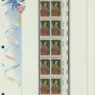 1968 USA MNH Sc# 1363 Plate #'d Block of 10 Stamps mounted on a WA Pg – Christmas – E2703