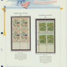 1968 USA MNH Scott# 1369, 1370 Plate #'d Blocks of 4 Stamps mounted on a White Ace Page – E2703