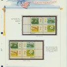 1969 USA MNH Scott# 1376 - 1379 Plate #'d Blocks of 4 Stamps mounted on White Ace Pages – E2703