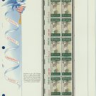 1969 USA MNH Sc# 1384 Plate #'d Block of 10 Stamps mounted on a WA Pg – Christmas – E2703