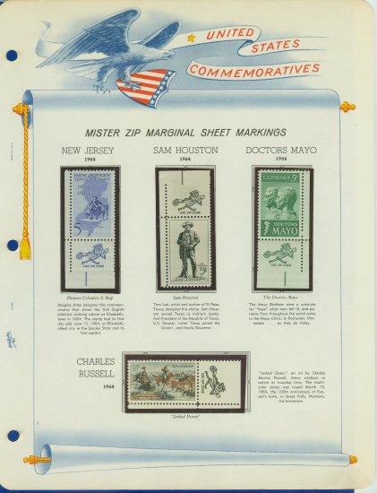1964 USA MNH Scott# 1242 � 51 Mr. Zip Stamps mounted on a White Ace Page - E2703