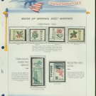 1964 USA MNH Scott# 1249, 54 - 58 - Mr. Zip Stamps mounted on a White Ace Page - E2703