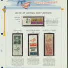 1965 USA MNH Scott# 1264 - 1268 - Mr. Zip Stamps mounted on a White Ace Page - E2703