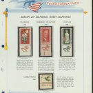 1965 USA MNH Scott# 1269, 71, 73, 76 - Mr. Zip Stamps mounted on a White Ace Page - E2703