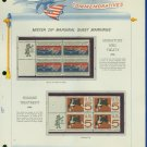 1966 USA MNH Scott# 1306 - 7 - Mr. Zip Blocks of 4 Stamps mounted on a White Ace Page - E2703
