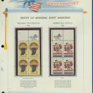 1966 USA MNH Scott# 1308 - 9 - Mr. Zip Blocks of 4 Stamps mounted on a White Ace Page - E2703